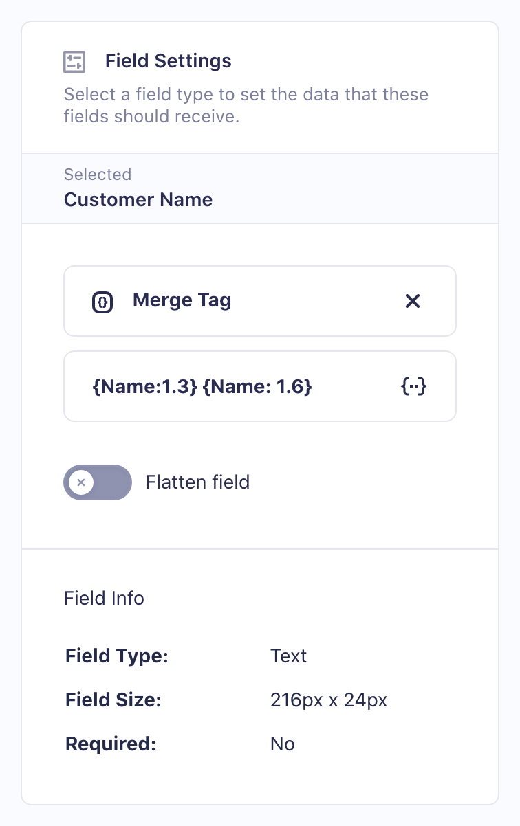 Mapping a custom value to a PDF field.